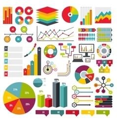 Infographics elements set flat vector image