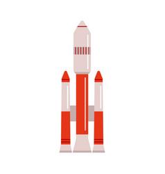 launching rocket satellite or spaceship flat vector image