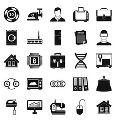 loan icons set simple style vector image