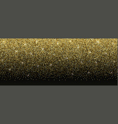 luxury gold glitter banner with text place vector image
