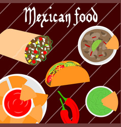 mexican food banner vector image