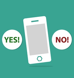 Mobile and yes or no icon vector