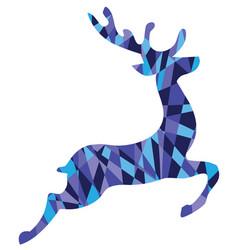 mosaic reindeer vector image