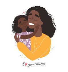 mothers day greeting card black african american vector image