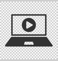 online training process icon in flat style vector image