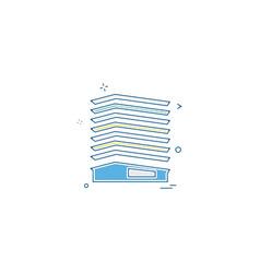 paper box file medical bills icon desige vector image