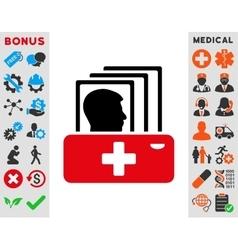 Patient Catalog Icon vector image