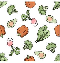 pepper backdrop paleo seamless pattern vector image