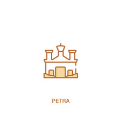 Petra concept 2 colored icon simple line element vector
