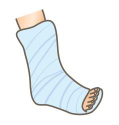 Plaster on leg vector