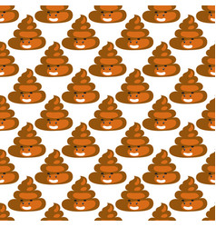 Poo emoji pattern poop fun seamless background vector