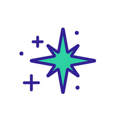 Radiance octagonal star icon outline vector