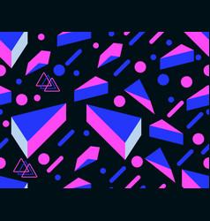 Retro futurism seamless pattern geometric vector