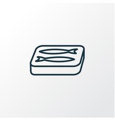 sardine icon line symbol premium quality isolated vector image