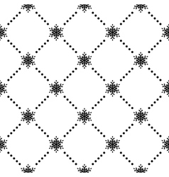 Seamless pattern of snowflakes EPS 10 vector image