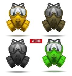 Set of gas mask respirator vector