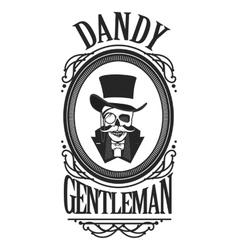 Skull gentleman in cylinder vector