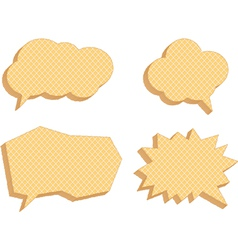 Speech bubbles consisting of waffles vector