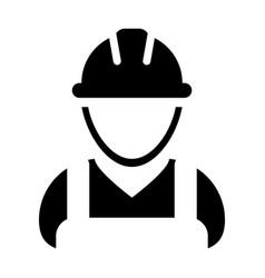 Supervisor icon male construction worker person vector