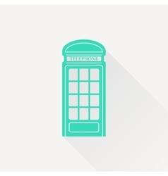 telephone box icon vector image