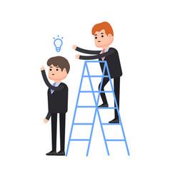 Theft of an idea one businessman steals an idea vector