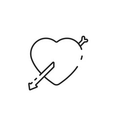 Thin line love icon vector