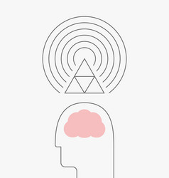 thought vibration vector image