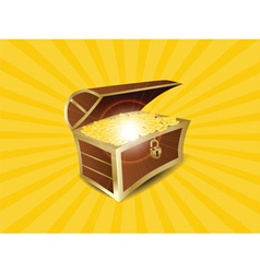 treasure full of gold vector image