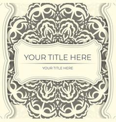 Vintage prepare light cream color postcards vector