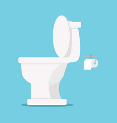 white toilet flat style vector image
