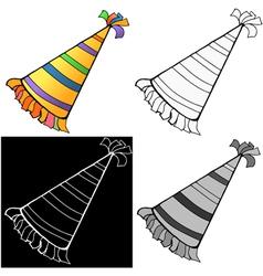 Birthday hat vector image vector image