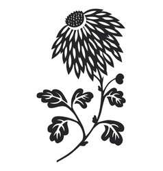 flower silhouetted vector image