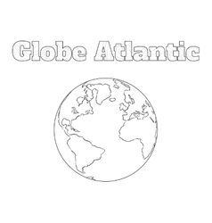 Globe Atlantic view vector image