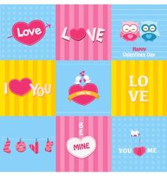 Retro Love Cards vector image vector image