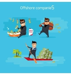 Set of offshore companies concepts vector
