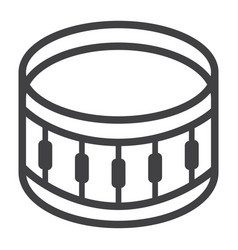 snare drum line icon music and instrument vector image