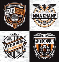 Athletic emblem graphics vector image vector image