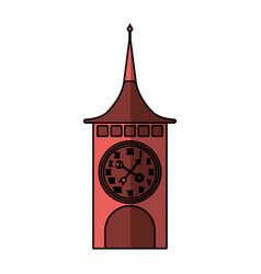 clock of tower switzerland vector image