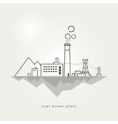 Coal power stations vector image