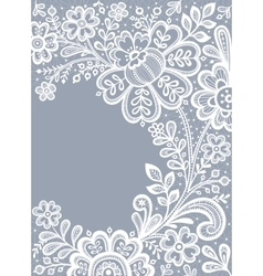 Floral Background Lace vector image