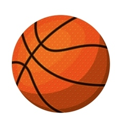 silhouette color with basketball ball vector image vector image