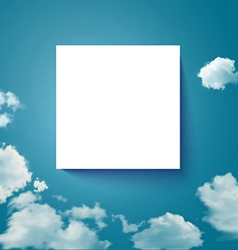 Sky with clouds page layout for your business vector