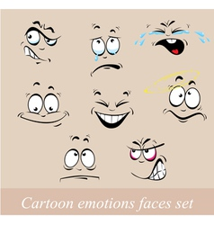 emotions faces set vector image