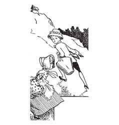 jack and jill vintage vector image