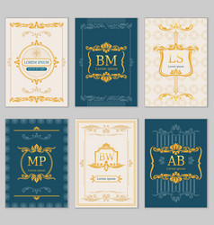 royal wedding design card templates with vector image vector image