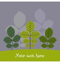 Autumn trees background vector