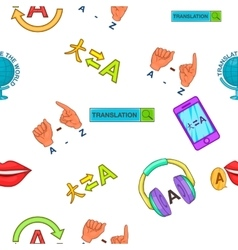 Foreign language pattern cartoon style vector image vector image
