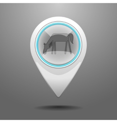Glossy Horse Icon vector image vector image