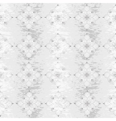 Seamless vintage gray floral pattern vector image vector image