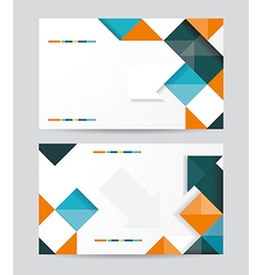 template design with cubes and arrows elements vector image